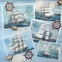 12076. Картинки с парусниками. 5 шт., 23 руб/шт