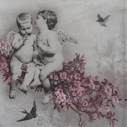 12172. Два ангела на ветке. 5 шт., 20 руб/шт