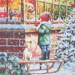 12174. Магазин перед Рождеством. 5 шт., 23 руб/шт