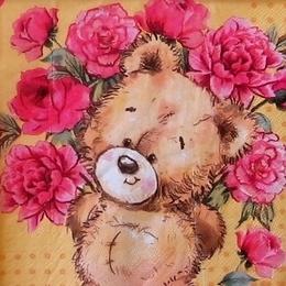12309. Мишка с цветами