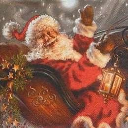 12319. Санта Клаус в санях