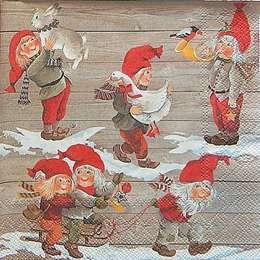 12324. Рождественские гномы. 5 шт., 23 руб/шт