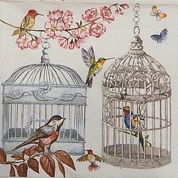 12332. Птицы и клетки. 5 шт., 23 руб/шт