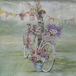 12358. Велосипед и цветы