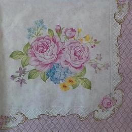 12364. Цветы на розовом. 5 шт., 23 руб/шт