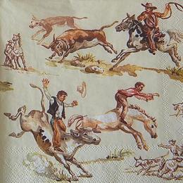 12386. Индейцы на лошадях