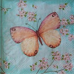 12500. Бабочка на голубом