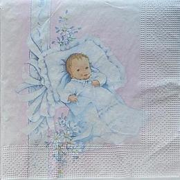 12505. Младенец на розовом. 5 шт., 17 руб/шт