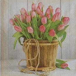 12519. Тюльпаны в ведре. 10 шт., 14 руб/шт
