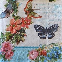 12521. Бабочки с голубым бордюром