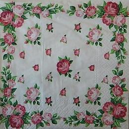 12528. Розы на белом. 5 шт., 17 руб/шт