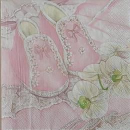 12529. Розовые пинетки