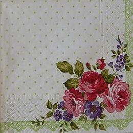 12534. Розы на зеленом горохе