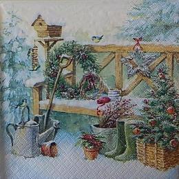12547. Новогодняя скамейка
