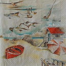 12554. Домик на берегу моря. 5 шт., 23 руб/шт