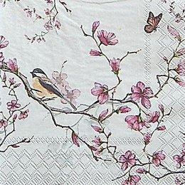 12619. Птица на цветущей ветке