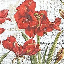 12620. Красные цветы