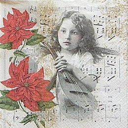 12628. Девочка с лютней на нотах