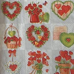 12641. Любящие сердца. 10 шт., 17 руб/шт