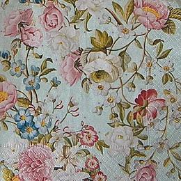 12662. Цветы на голубом