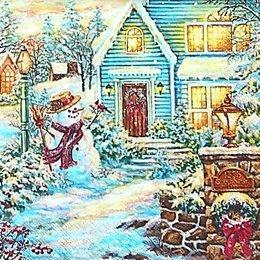 12692. Снеговик у дома. 20 шт., 12 руб/шт