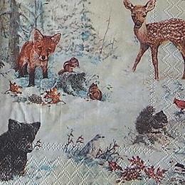 12710. Звери зимой в лесу