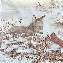 12712. Ослик с котенком. 5 шт., 20 руб/шт