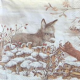 12712. Ослик с котенком