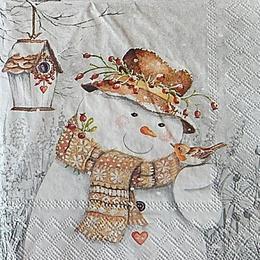 12754. Снеговик и птичка. 5 шт., 20 руб/шт