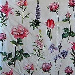 12770. Цветы на белом