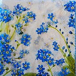 12771. Мелкие голубые цветочки. 5 шт.,  17 руб/шт