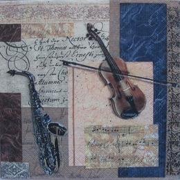 12862. Скрипка и саксофон. 15 шт., 16 руб/шт