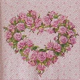 12932. Сердце из роз
