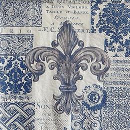 12954. Лилия на синем