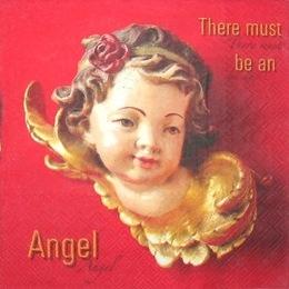 1586. Ангелы на красном. 5 шт., 10 руб/шт
