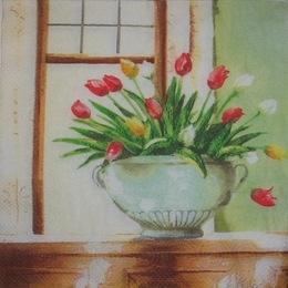 1634. Тюльпаны в вазоне