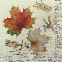 1749. Осенние листья на желтом. 5 шт., 9 руб/шт