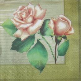 1812.  Розы на оливковом. 5 шт., 9 руб/шт