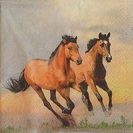 20033. Бегущие кони. 10 шт., 22 руб/шт