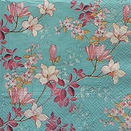 20082. Цветы на голубом. 5 шт., 20 руб/шт