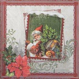 20098. Санта Клаус в рамке. 5 шт., 24 руб/шт