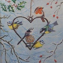 20122. Птицы и сердце. 5 шт., 24 руб/шт