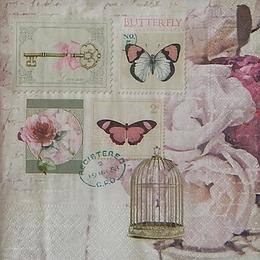 20168. Марки из бабочек . 15 шт., 24 руб/шт