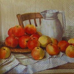 20251. Натюрморт с яблоками. 5 шт., 20 руб/шт