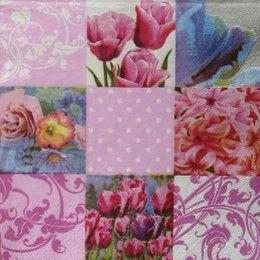 2116. Коллаж из весенних цветов