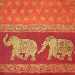 2213. Слоны на оранжевом. 5 шт., 17 руб/шт