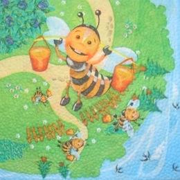 232. Пчелки. Однослойная. 10 шт, 3 руб/шт