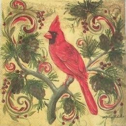 2387. Красный кардинал. 5 шт., 21 руб/шт