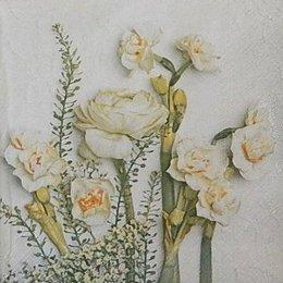 24012. Цветы  на сером. 15 шт., 9 руб/шт