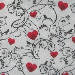 24076. Птички и красные сердца. 20 шт., 5,5 руб/шт